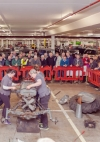 The Ladies proved anything the men could do they could do better on the tractor build which was well attended.