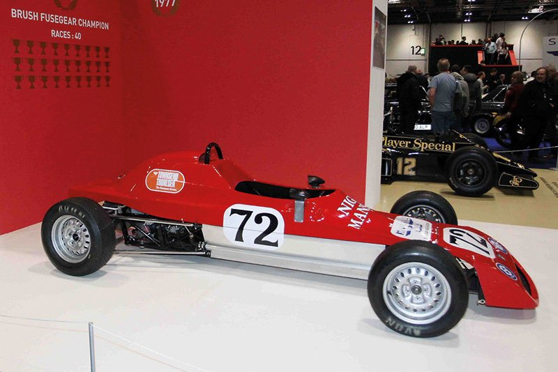 Nigel Mansell 1977 Crosslé 32F, the junior single-seater in which he competed in Formula Ford,