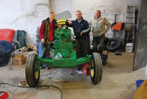 Between them Bob (left), Dominic and Jack (far right) all have the experience needed for any restoration.