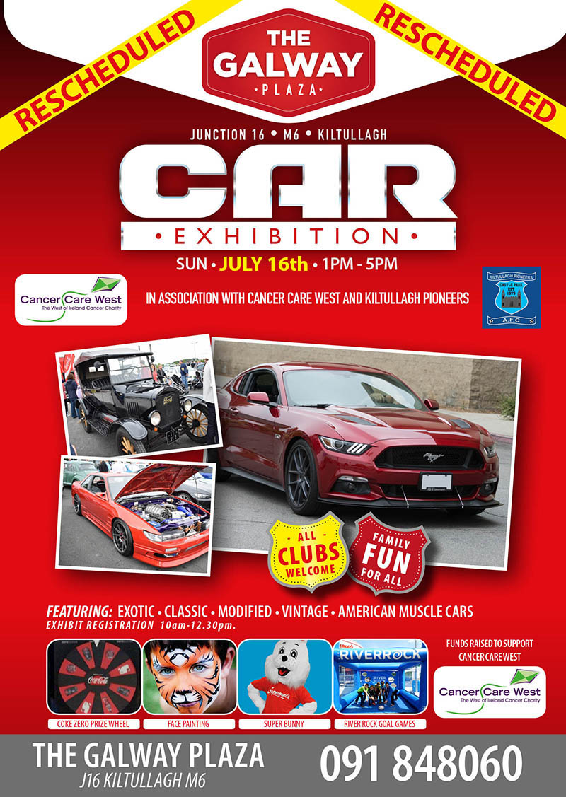 Galway Paza Super Car Show Graphic